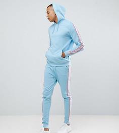 Спортивный комплект из худи и джоггеров скинни с полосками по бокам ASOS DESIGN tall - Синий