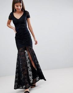 Кружевное платье макси City Goddess - Черный