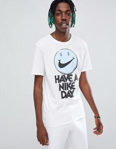 Белая футболка с логотипом и надписью Have a Nice Day Nike 911903-100 - Белый