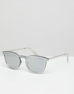 Серебристые круглые солнцезащитные очки Black Phoenix - Серебряный