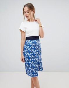 Платье с запахом 2 в 1 Closet London - Синий