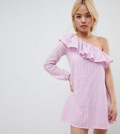 Vero Moda Petite One Shoulder Dress - Розовый