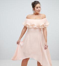Платье миди с плиссировкой Coast Plus Daphne - Розовый