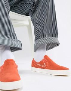 Красные кроссовки-слипоны Nike SB Zoom Stefan Janoski 833564-800 - Красный