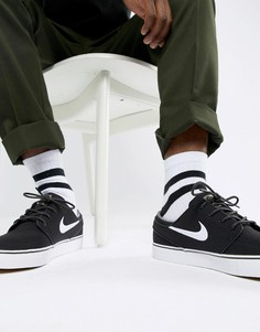 Черные кроссовки Nike SB Zoom Stefan Janoski Skateboarding 615957-028 - Черный