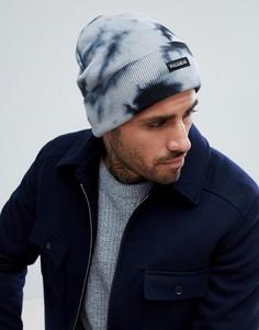 Шапка-бини темно-синего цвета Pull&Bear - Темно-синий Pull&;Bear