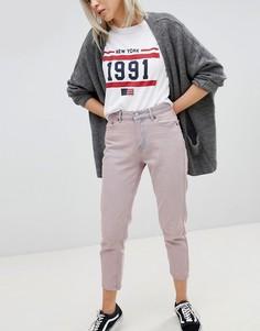 Укороченные джинсы в винтажном стиле Pull&Bear - Розовый Pull&;Bear
