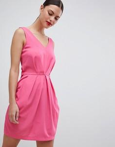Плиссированное платье без рукавов Closet London - Розовый