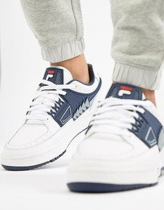 Белые низкие кроссовки Fila Tourissimo - Белый