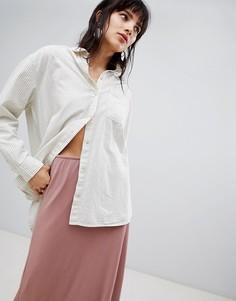 Oversize-рубашка в полоску Selected Femme - Мульти