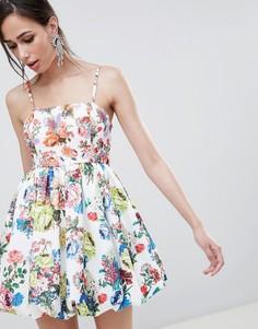 Платье на бретельках с принтом ASOS DESIGN - Мульти