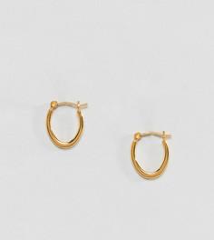 Серьги-кольца из позолоченного серебра ASOS DESIGN - Золотой