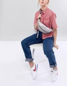 Сумка-кошелек на пояс с фирменной лентой на ремешке Tommy Jeans - Серый