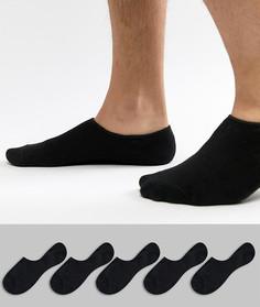 Набор из 5 пар невидимых носков Jack & Jones - Черный