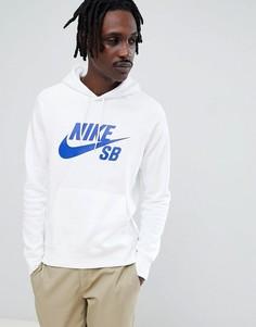 Худи белого цвета Nike SB Icon 846886-101 - Белый