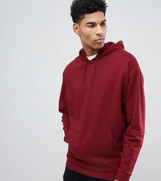 Oversize-худи бордового цвета ASOS DESIGN Tall - Красный