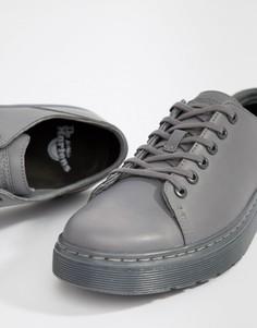 Серые туфли с 6 парами люверсов Dr Martens Dante - Серый