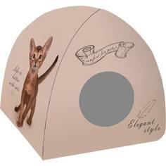 Домик PerseiLine Дизайн Вигвам Котенок винтаж для кошек 40*40*39 см (00050/ДМД-3)