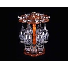 Бар 12 предметов 6х190 мл/6х50 мл М-Декор гравировка напыление металлами (1502-ГНМ)