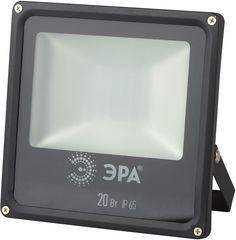Прожектор уличный Эра LPR-20-4000К-М SMD светодиодный 20Вт корп.мет.черный (Б0019825) ERA