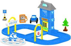 Игровой набор DOLU Полицейская станция с круговой дорогой