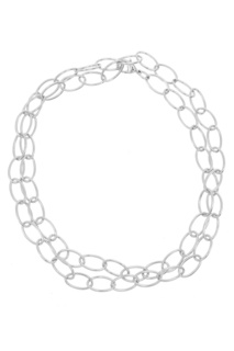 Крупная серебристая цепочка Freywille