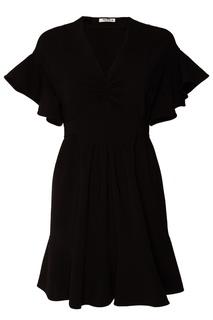 Черное платье с воланами Miu Miu