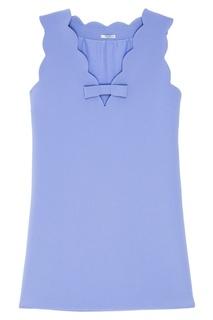 Короткое голубое платье Miu Miu