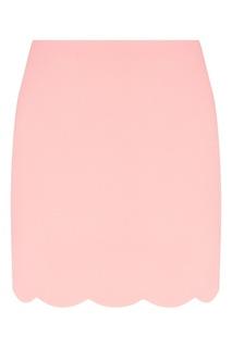 Розовая юбка с фигурной отделкой Miu Miu