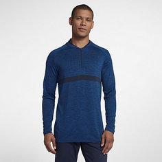 Мужская футболка для гольфа с молнией до середины груди Nike Dri-FIT