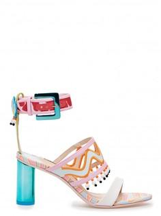 Босоножки Nereida Mid из кожи на устойчивом каблуке Sophia Webster