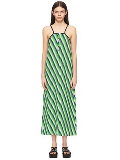 Платье-макси свободного кроя с ярким принтом House of Holland