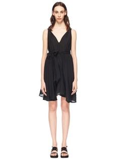 Платье из фактурного шелка без рукавов Katharine E Hamnett AT YMC