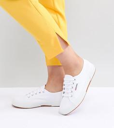 Классические белые кроссовки из парусины Superga 2750 - Белый