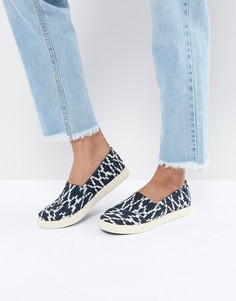 Темно-синие туфли-слипоны TOMS Avalon - Синий