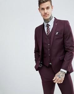 Фактурный приталенный пиджак Harry Brown - Красный