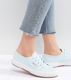 Голубые парусиновые кроссовки Superga 2750 - Синий