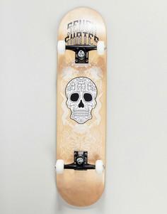 Скейтборд Seven Skates Sugar Skull - 7.8 - Коричневый