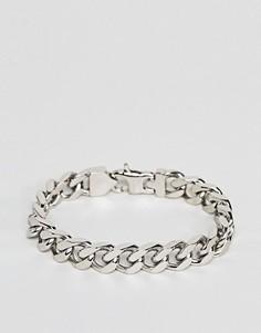 Серебристый браслет-цепочка с крупными звеньями Fred Bennett - Серебряный