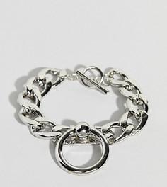 Браслет из цепочки с крупными звеньями и кольцом Uncommon Souls - Серебряный