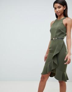 Платье-халтер с оборками Paper Dolls - Зеленый