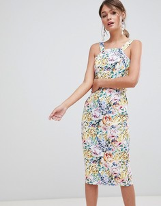 Платье-футляр с цветочным принтом Paper Dolls - Мульти