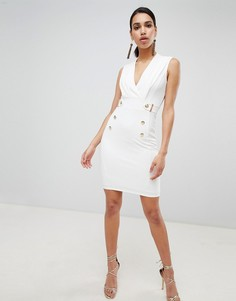 Облегающее платье-смокинг Lipsy - Белый
