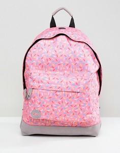 Классический рюкзак с принтом в форме брызг Mi-Pac - Розовый