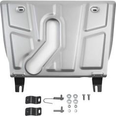 Защита картера и КПП Rival для Toyota Rav4 (2006-2010), Rav4 АКПП (2010-н.в.) (с вырезом под глушитель), алюминий 4мм, 333.9506.1