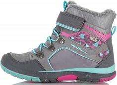 Ботинки утепленные для девочек Merrell Moab Fst Polar Mid, размер 27
