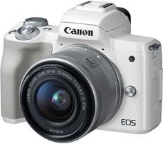 Цифровой фотоаппарат Canon EOS M50 15-45 IS STM (белый)