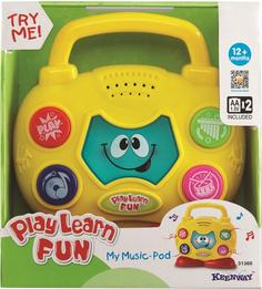 Развивающая игрушка KEENWAY Музыкальный бумбокс (свет, звук)