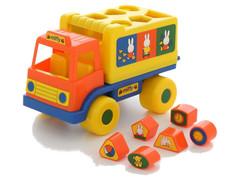 Сортер Полесье Логический грузовичок Миффи с 6 кубиками №1 64394