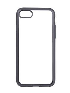 Аксессуар Чехол Liberty Project Silicone для APPLE iPhone 8 / 7 TPU Transparent Black-Chrome frame 0L-00029648